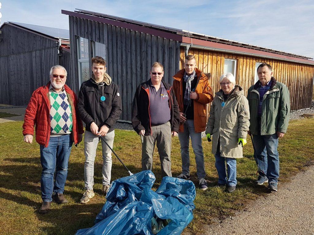 """FSV bei der Aktion """"sauberes Vaihingen"""" im Februar 2020"""